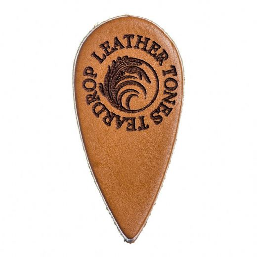 Leather Tones Teardrop Cognac Leather 1 Pick